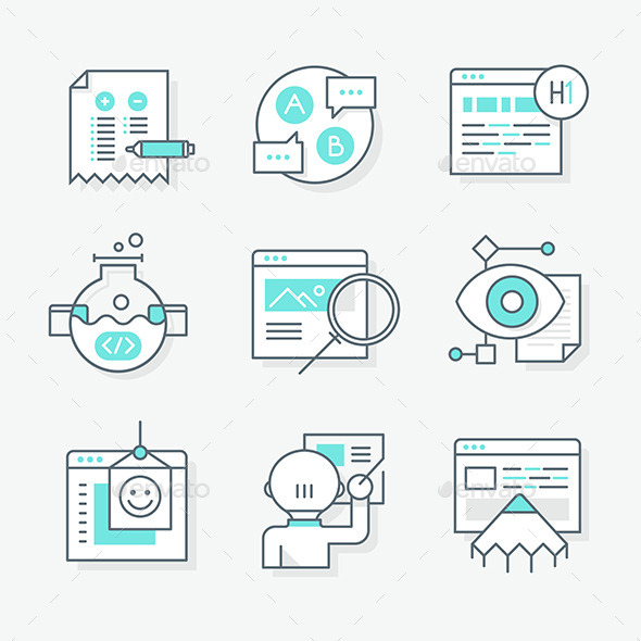 Website Redesign Icons - Web Icons