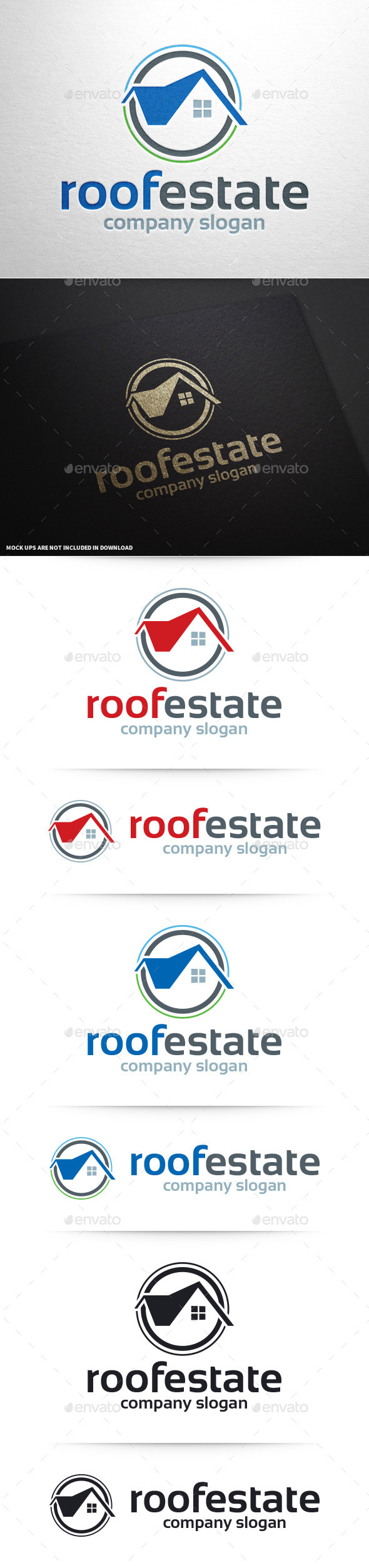 Roof Estate Logo Template - Buildings Logo Templates