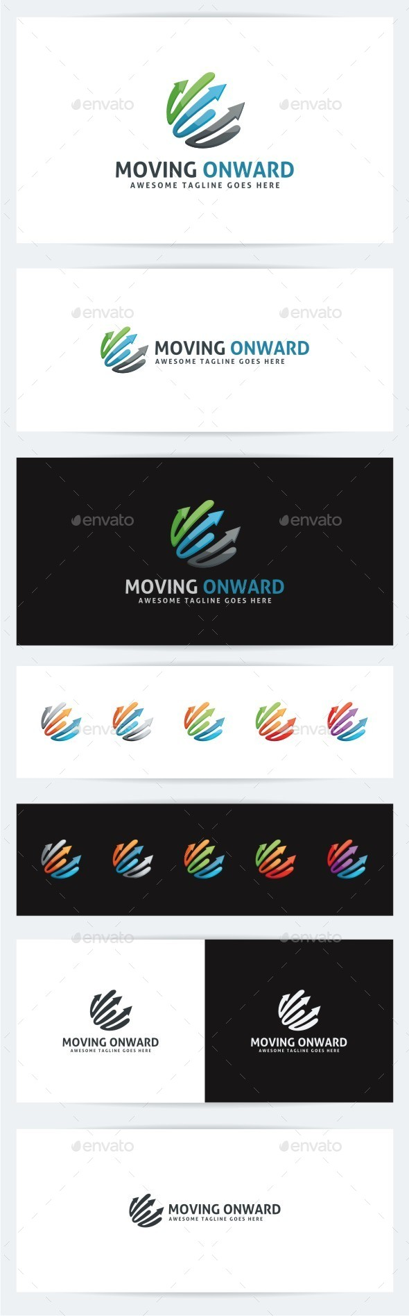 Moving Onward - Abstract Logo Templates