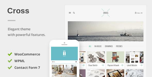 Cross – An Elegant Minimal WordPress Theme