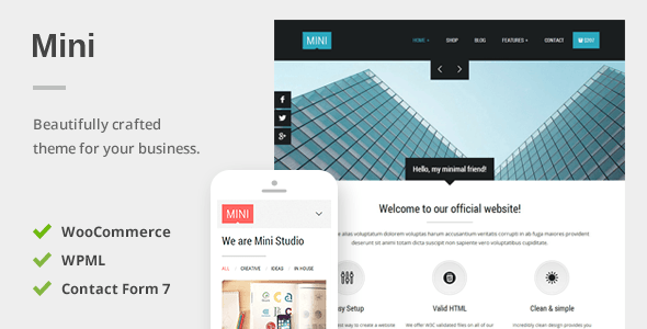 Mini – A Unique Responsive WordPress Theme