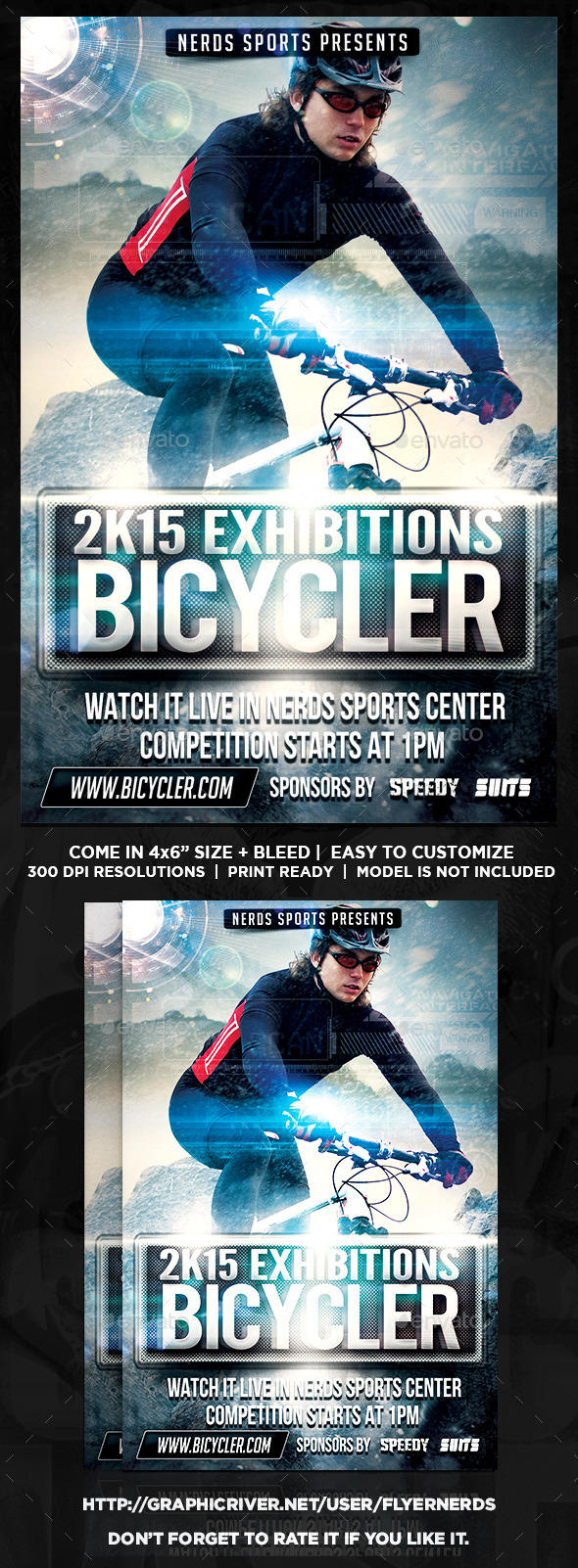 Extreme Bike Sports Flyer - Sports Events