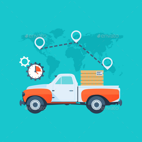 Delivery Service Concept - Services Commercial / Shopping