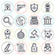 Law and Order Line Icons - GraphicRiver Item for Sale