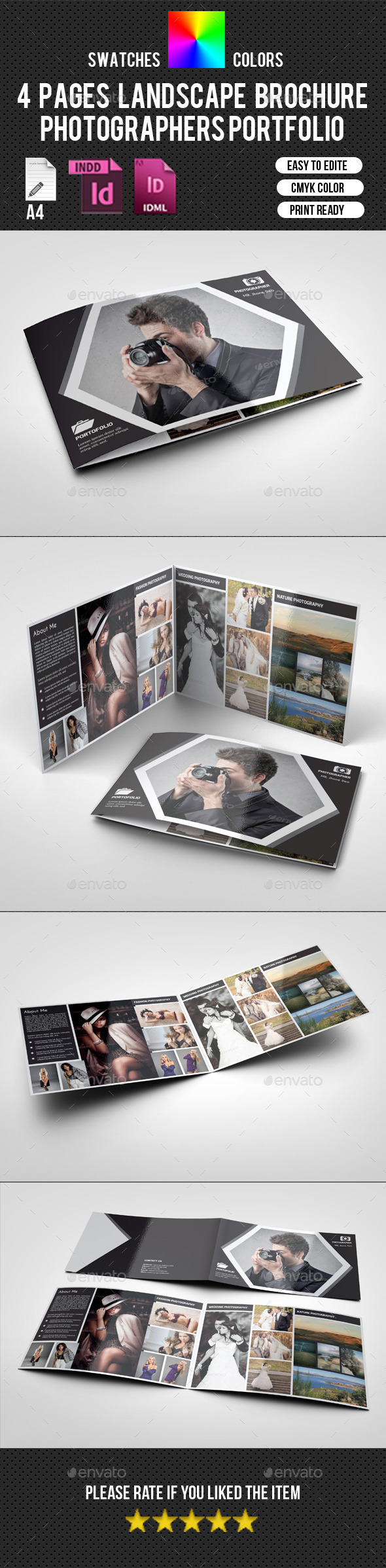 4 Pages Landscape Photography Brochure-V197 - Corporate Brochures