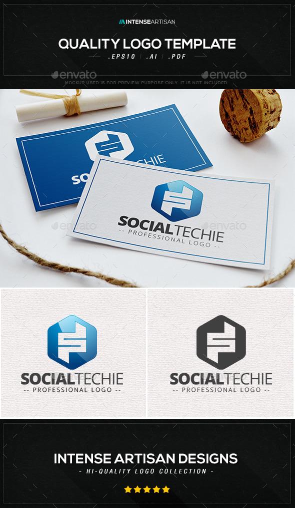 Social Techie Logo Template - Letters Logo Templates