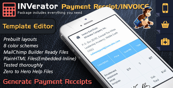 Invoice Template / Payment Receipt – Email Builder