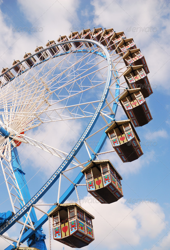Ferris wheel at the Octoberfest - Stock Photo - Images