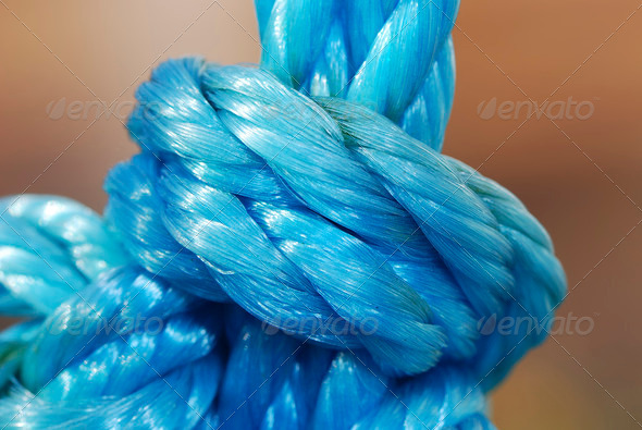 Blue knot - Stock Photo - Images