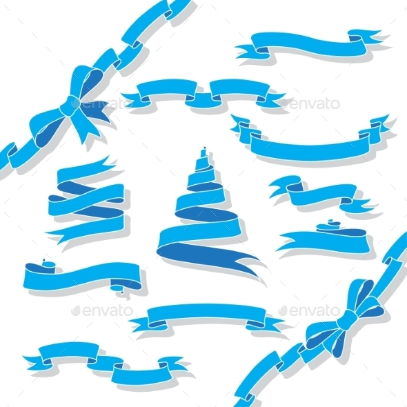 Blue Ribbons - Decorative Symbols Decorative