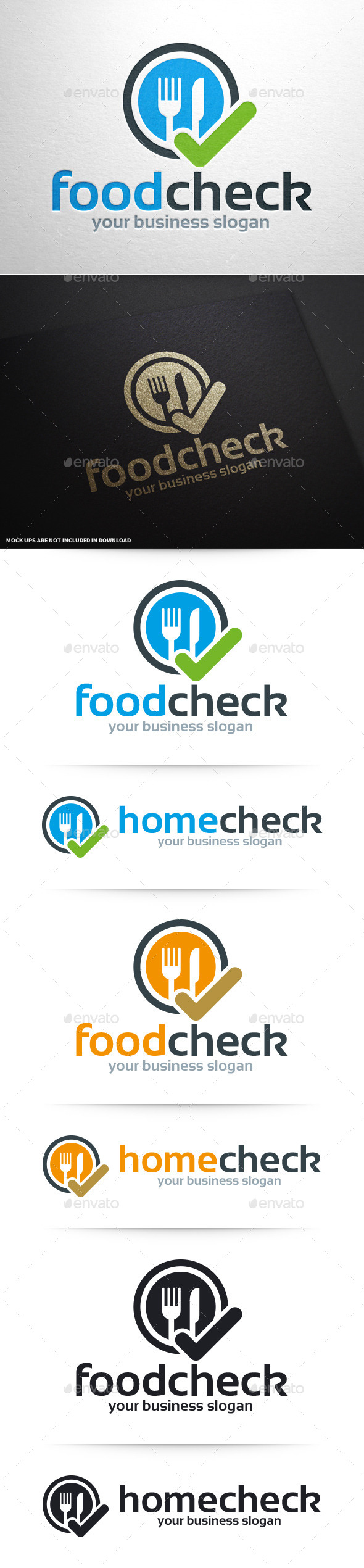 Food Check Logo Template - Objects Logo Templates