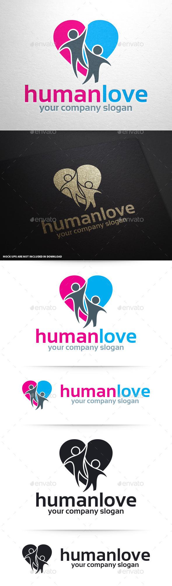 Human Love Logo Template - Humans Logo Templates