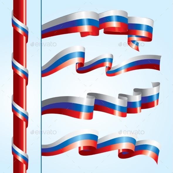 Russian Flags - Miscellaneous Vectors