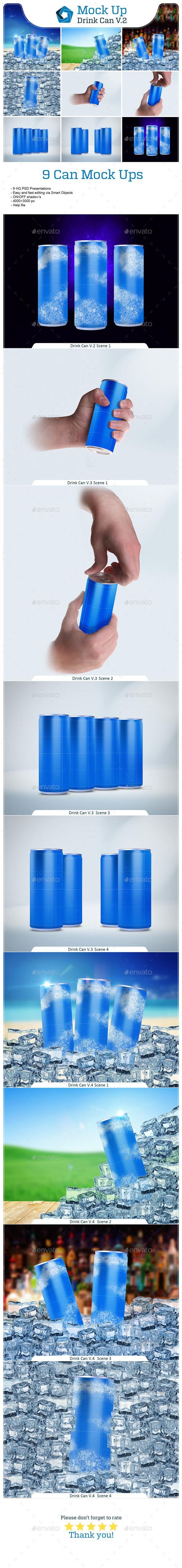 Drink Can Bundle V.2 - Food and Drink Packaging