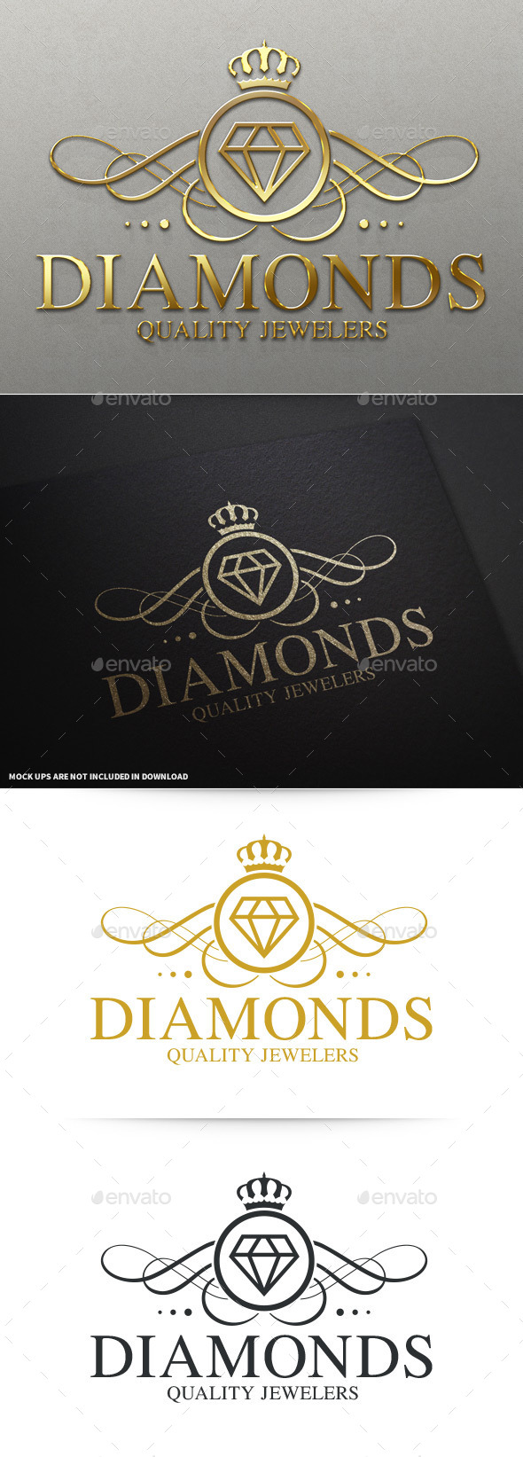 Diamonds Luxury Logo Template - Objects Logo Templates