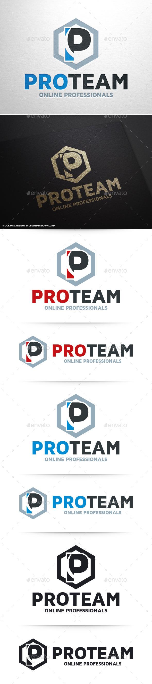 Pro Team - Letter P Logo - Letters Logo Templates