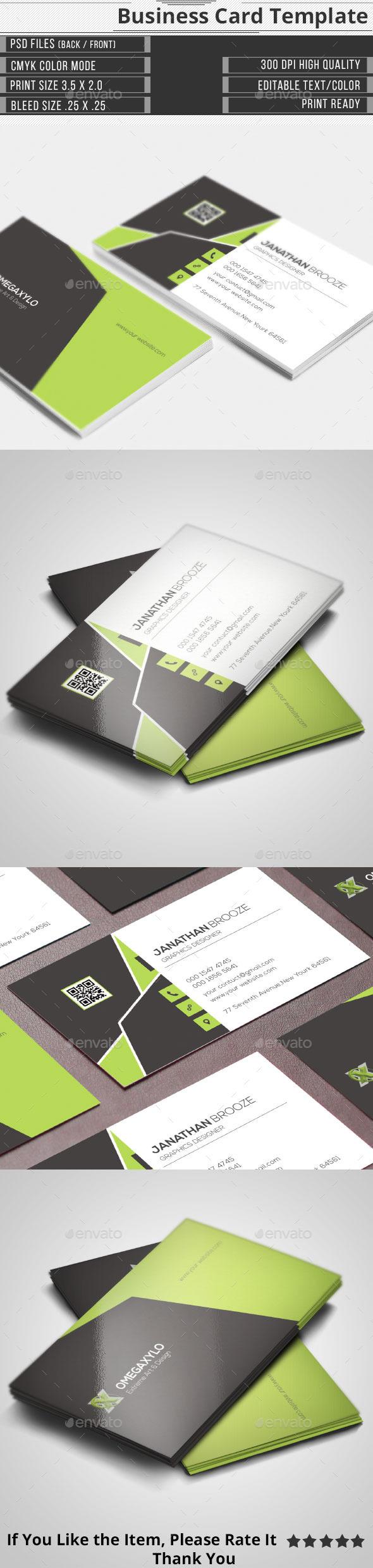 Elegant Corporate Business Card - Corporate Business Cards