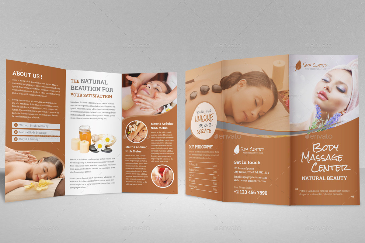 Salon Brochure Templates Insssrenterprisesco - Spa brochure templates