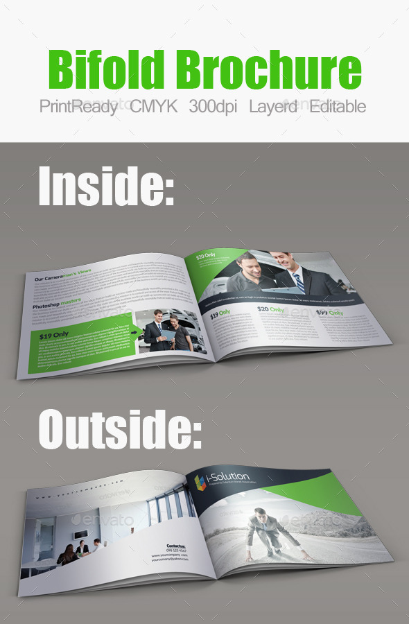 Minimal Bifold Square Brochure - Corporate Brochures