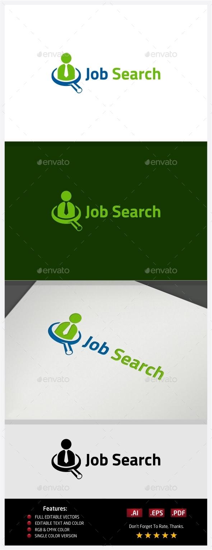 Job Search Logo - Vector Abstract