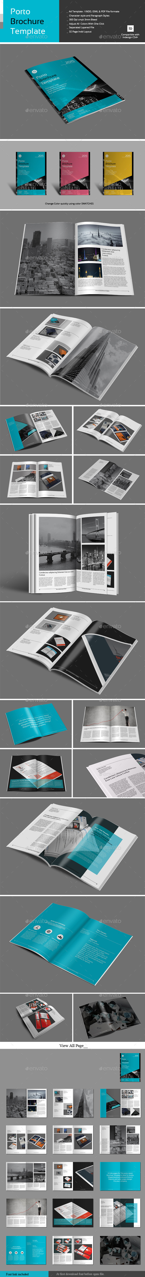 Porto Brochure Template - Corporate Brochures
