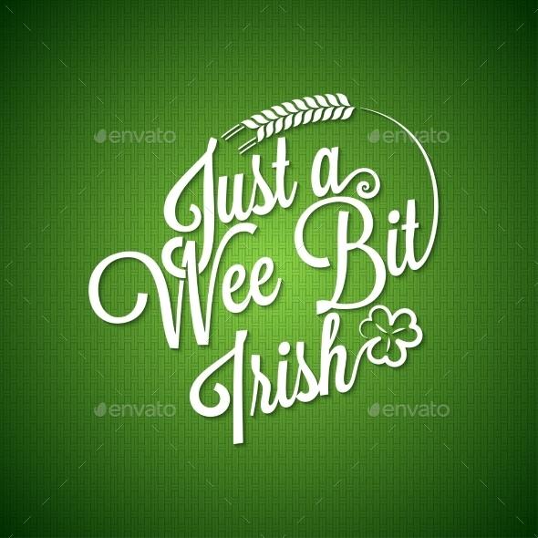 Patrick Day Vintage Irish Background - Miscellaneous Seasons/Holidays