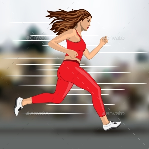 Running Woman - People Characters