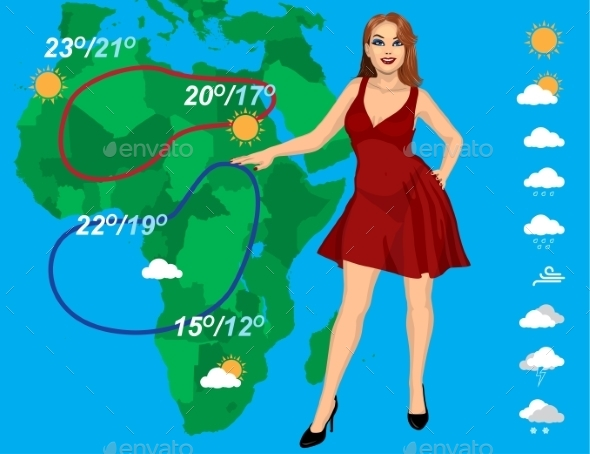 Weather Forecast - People Characters