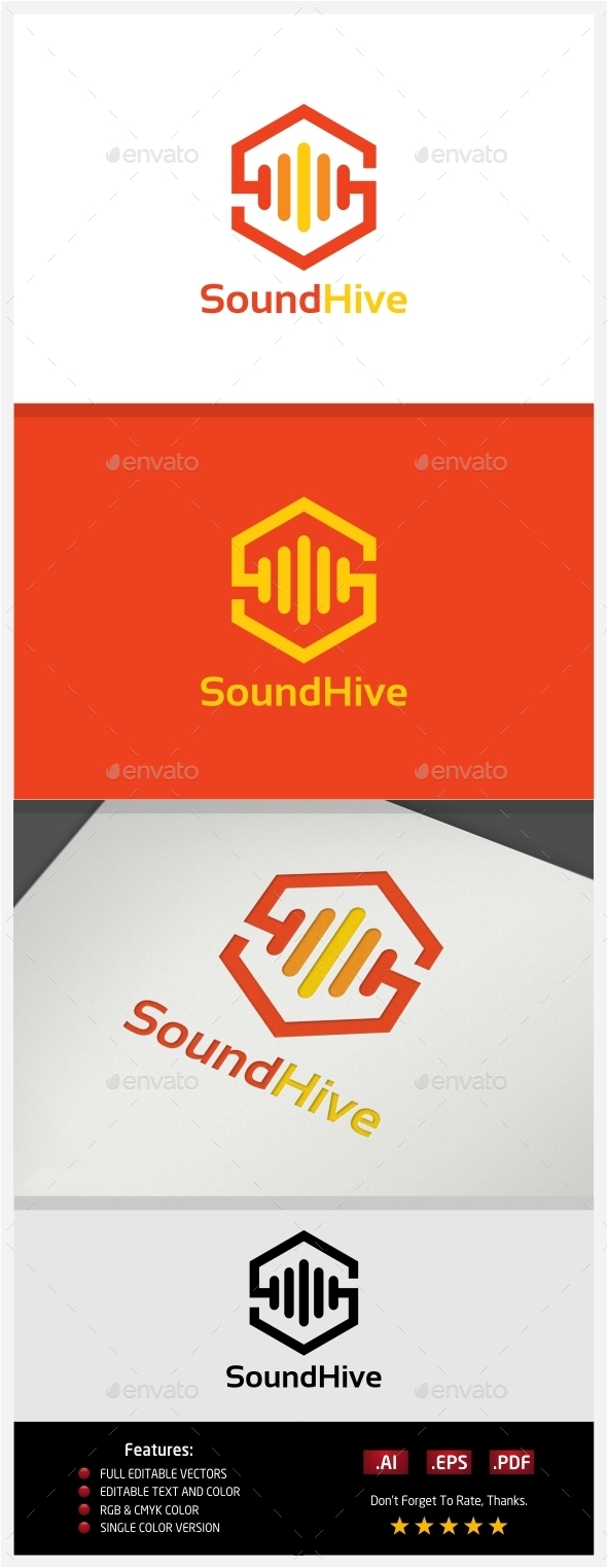 Sound Hive Logo - Vector Abstract