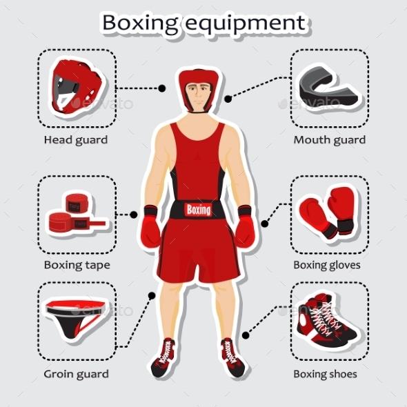 Sport Equipment for Boxing Martial Arts - Sports/Activity Conceptual