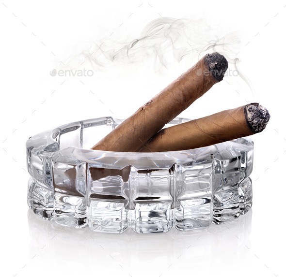 Cigars in ashtray - Stock Photo - Images