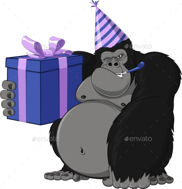 Monkey with a Gift - Birthdays Seasons/Holidays