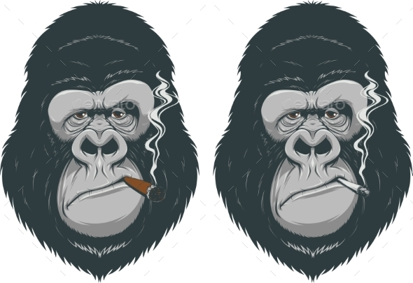 Monkey with a Cigarette - Animals Characters