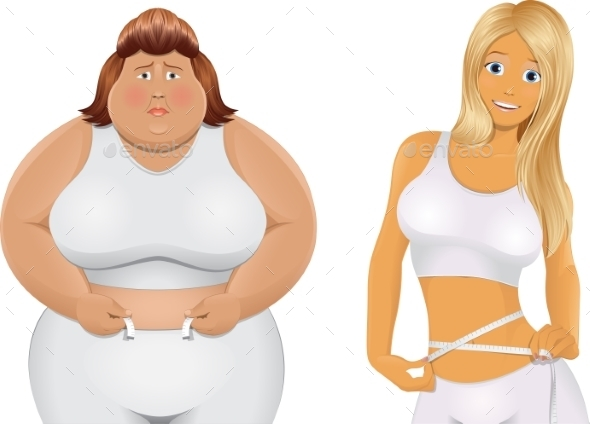Diet Concept - People Characters