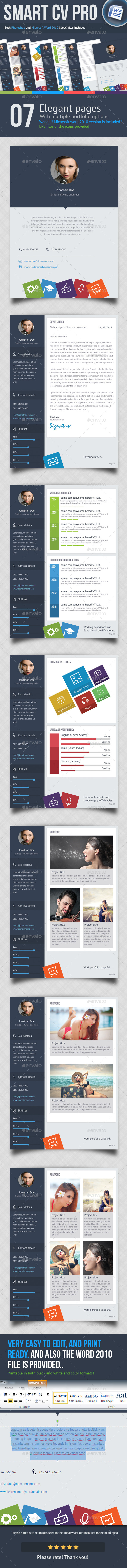 7 Page Smart CV - Resumes Stationery