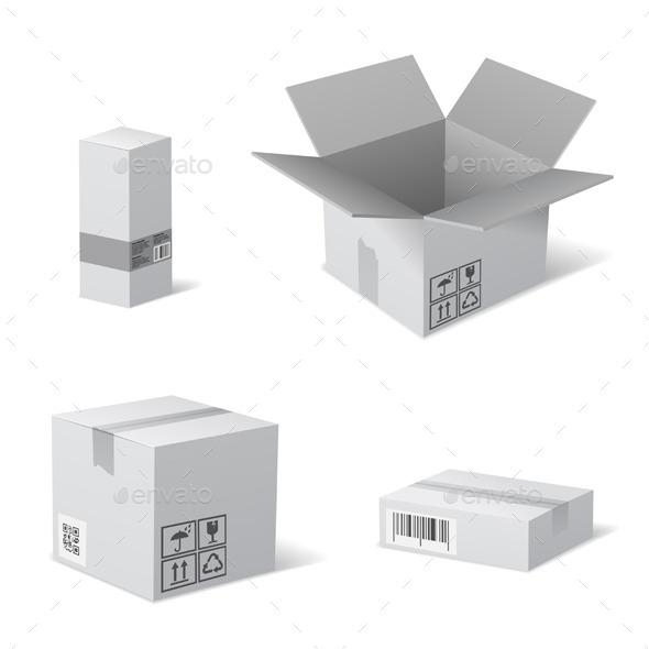 Packaging Boxes - Man-made Objects Objects