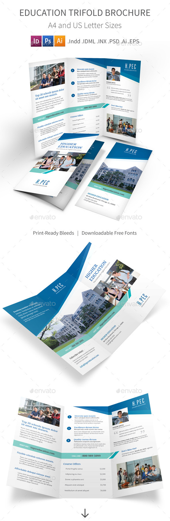 Education Trifold Brochure - Informational Brochures