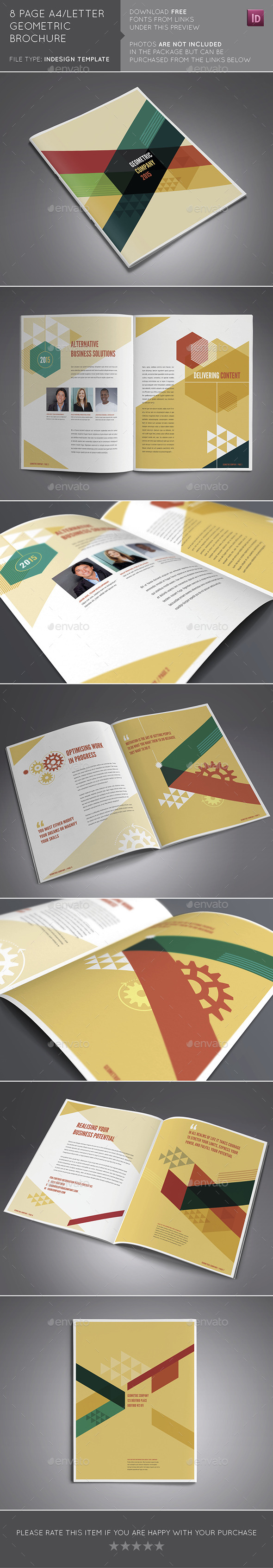 8 Page A4/US Letter Geometric Brochure - Brochures Print Templates
