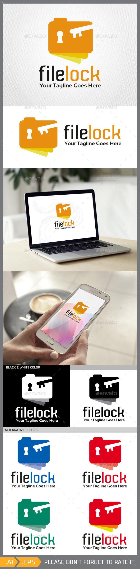 Filelock logo template - Objects Logo Templates