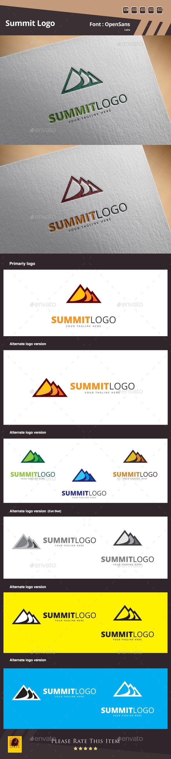 Summit Logo Template - Buildings Logo Templates