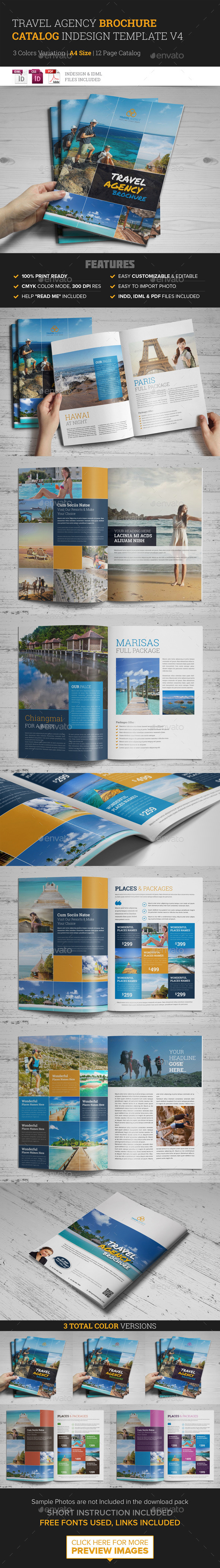 Travel Agency Brochure Catalog InDesign Template 4 - Corporate Brochures