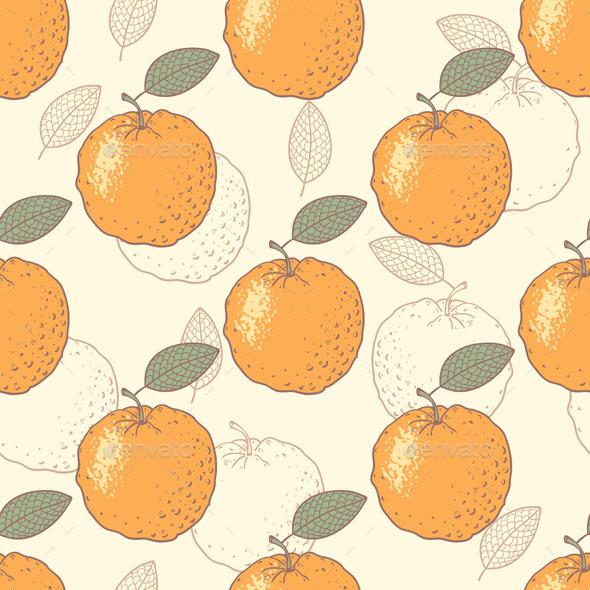 Oranges Seamless Pattern - Patterns Decorative
