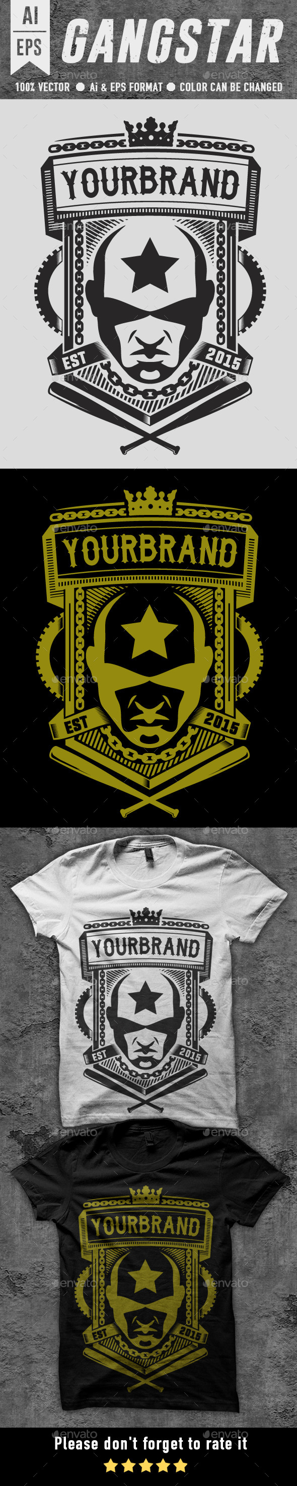 Gangstar T-shirt Design - Designs T-Shirts