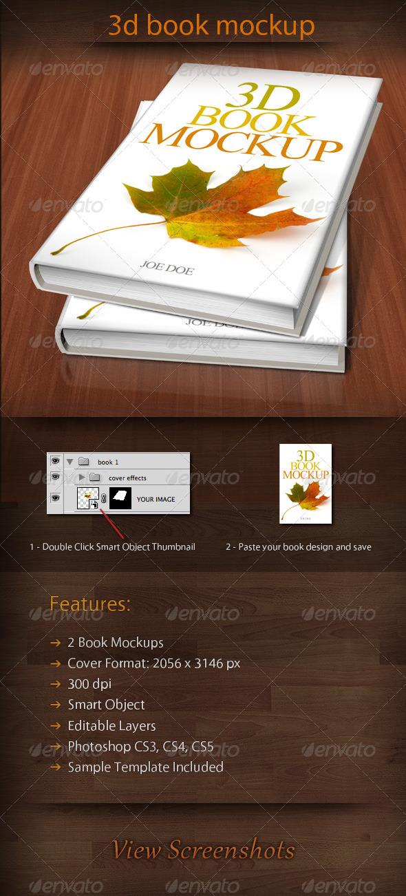 3D Book Mockup 01 - Books Print