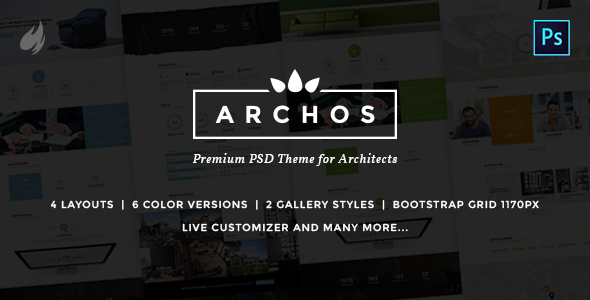 Archos – PSD Template for Architects