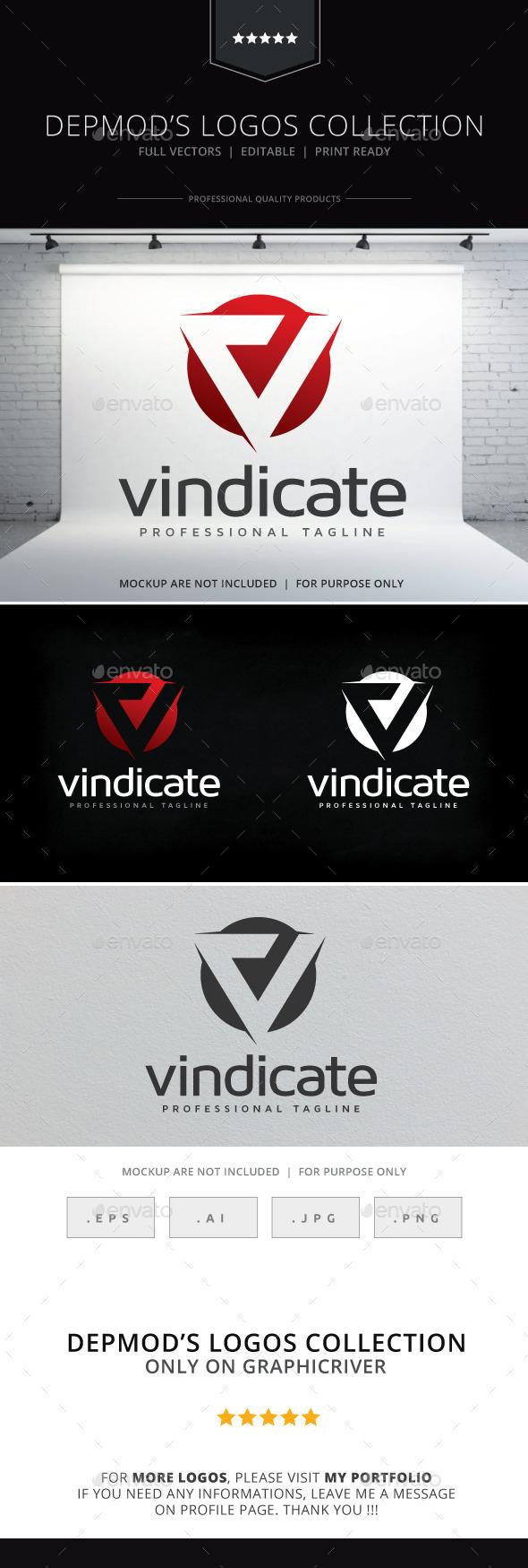 Vindicate Logo - Letters Logo Templates