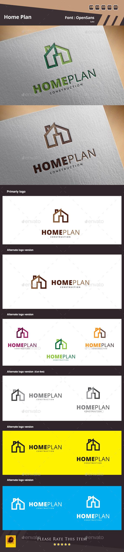 Home Plan Logo Template - Buildings Logo Templates