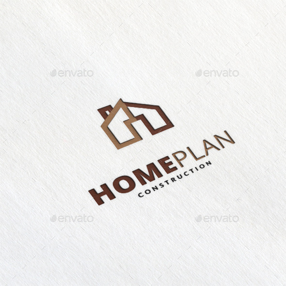 Home Plan Logo Template by maraz2013