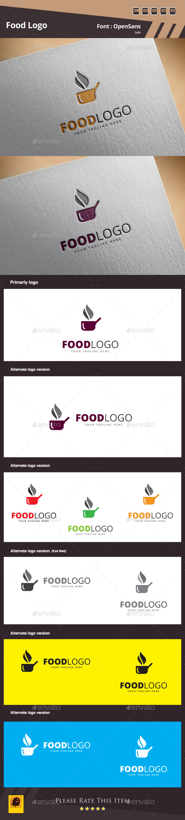 Food Logo Template - Food Logo Templates