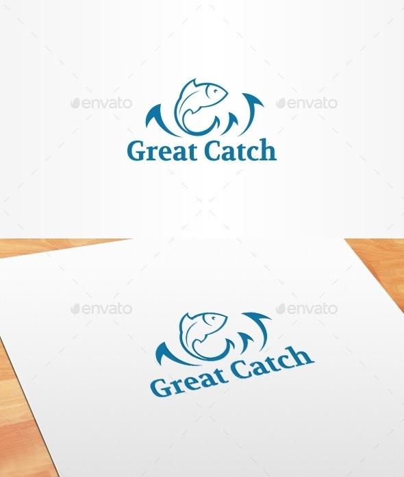 Great Catch Logo Template - Animals Logo Templates